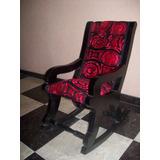 Silla Mecedora Lujo Pequeña Negro-rojo Niños