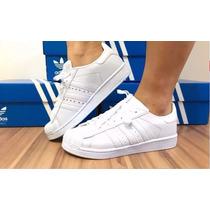 Tênis Adidas Superstar Colorido Foundation Homem E Mulher