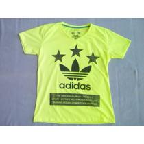Franela Verde Fluorescente Talla S Adidas