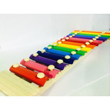 Xilófono Infantil 15 Notas Instrumento Musical Mas Baquetas