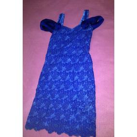 Vestido De Fiesta Azul De Encaje Novia 15 Años Madrina T: M