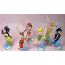 Bonecas Tinker Bell Disney Sininho Fadas Kit 6 Bonecos