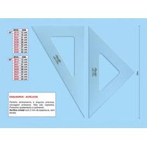 Kit Materiais P/desenho C/compasso, Esquadros E Transferidor