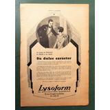 Publicidad Lysoform 1 Pagina Clipping Caras Y Caretas 1930
