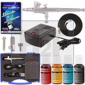 Broca Kit Aerografo Con Compresor Para Decorara Pasteles