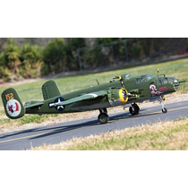 Aeromodelo Bi Motor Lx Super B-25 Mitchell Rtf Grande Comple