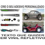 Acessorios Buggy Vw Fusca Baja Adesivos Lateral Vinil Kit