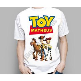 Camiseta Camisa Infantil Adulto Toy Story Personalizada Nome