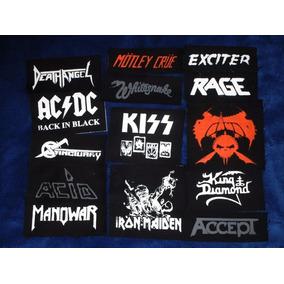 Lote Atacado 100 Patch Silk | Bandas Rock Metal Punk