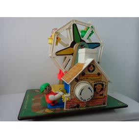 Roda Gigante Musical A Corda Brinquedo Antigo Anos 60