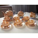 Jogo/conjunto De Chá Antigo Porcelana Japonesa Casca De Ovo