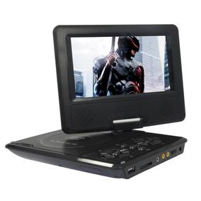 Dvd Portatil Tv 7 Tela Lcd Gira 300 Jogos Sd Fm Pen Drive Sd