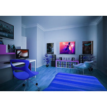 Cuadro Arte Canvas Michael Jackson Azul 60 X 80