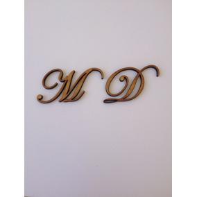 2 Letras Em Mdf Fonte Eduardian Script 3cm Altura Frete 9,00