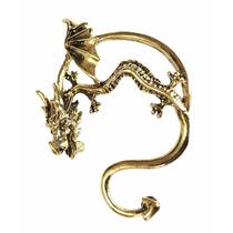 Pendiente Arete Forma Dragon Original Y Elegante Dorado