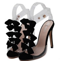 Sandalia Feminina Com Laço Sapato Feminino Importado