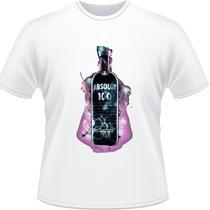 Camisa Absolut Garrafa Drink Vodka Bartender Camiseta #1