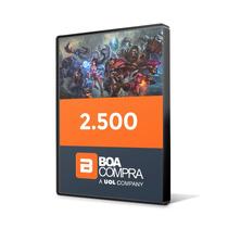 Créditos Go4gold Boa Compra 2.500 Golds Lol - Envio Imediato