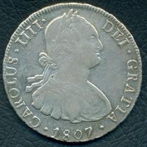 Moneda Potosí 1807 8 Reales Pj Cj#76.19 (plata)