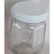 Pote De Vidro Condimentos Octogonal 8 Lados 250ml (06potes)