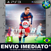 Ea Sports Fifa 16 - Ps3 - Psn - Dub Português - Envio Hoje !