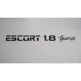 Adesivo Escort 1.8 Guarujá Preto, Branco Ou Vermelho 92- Mmf