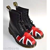 Botas Dr Martens Negro Mate Bandera Inglesa !! Original !!