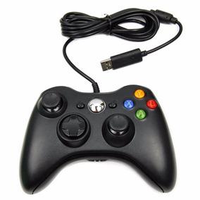 Controle C/ Fio Xbox 360 Pc Slim Joystick Original Feir Usb