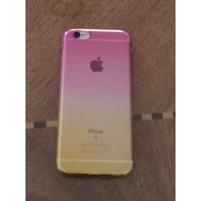 Funda De Silicona Color Degradado Rosa-amarillo