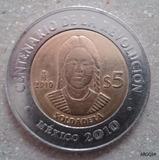 Moneda 5 Pesos Soldadera Conmemorativa Revolucion