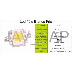 Led 10w 9-12v , Blanco Frio!, Oferta, Stock! Lampara Chip