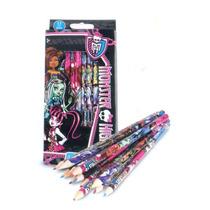 Paquete Escolar Monster High Colores Lapiz Pluma Sello Sobre
