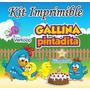 Kit Imprimible Gallina Pintadita Candy Bar Fiesta Souvenirs