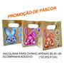 Sacolinha De Páscoa+adesivo Parda 10,5x5x12(10 Un)125g