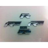 Conjunto De Emblemas - R-line - Vw Racing