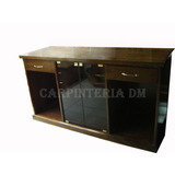 Modular Vajillero Mesa Tv 140x40x80cm / Carpinteria Dm