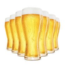 12 Copo Taca Cerveja Budweiser 400ml Original Bud Licenciado