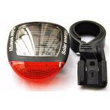 Luz Led Bicicleta Con Carga Solar Lampara Roja Advertencia
