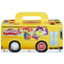 Kit Play-doh Com 20 Potes Massinha Modelar Ônibus - Hasbro