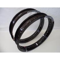 Aro Alumínio Titan Fan 18x185+18x215 Three Heads Preto Par