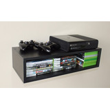Nicho De Parede P/ Video Game Console 50x20x35cm Mdf Preto