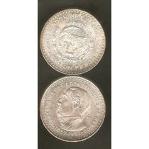 Peso De Plata Juarez. 1957 Envio Gratis Dhl