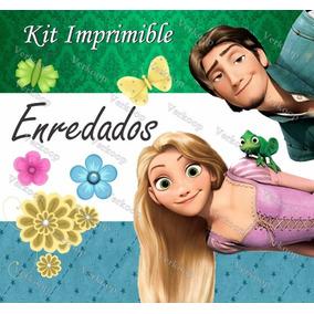 Kit Imprimible Enredados Rapunzel Tangled Invitaciones