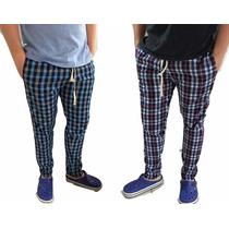 12 Pantalon Tipo Elepants Escoces Tela A Cuadro Oferta Mayor