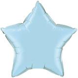14 Balão Metalizado Estrela 45cm Azul Bebê