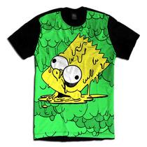 Bart Grime Simpsons Tumblr Acid Alien Camiseta Personalizada