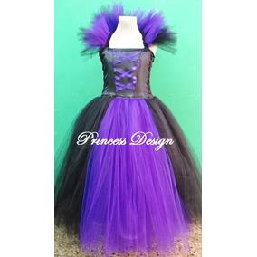Disfraz Vestido De Princesa Malefica Con Falda De Tul