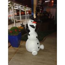 Boneco Olaf Frozen Em Fibra Brinquedo Parque Lixeira Enfeite