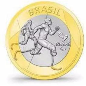 Frete R$ 7,80 - Atletismo Paralímpico Moeda Olimpíadas - Fc