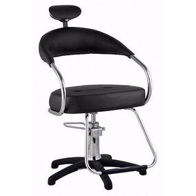 Cadeira Cabelo Hidraúlica C Apoio De Cabeça, Profissional